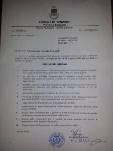 Consiglio Comunale 26 Settembre 2013
